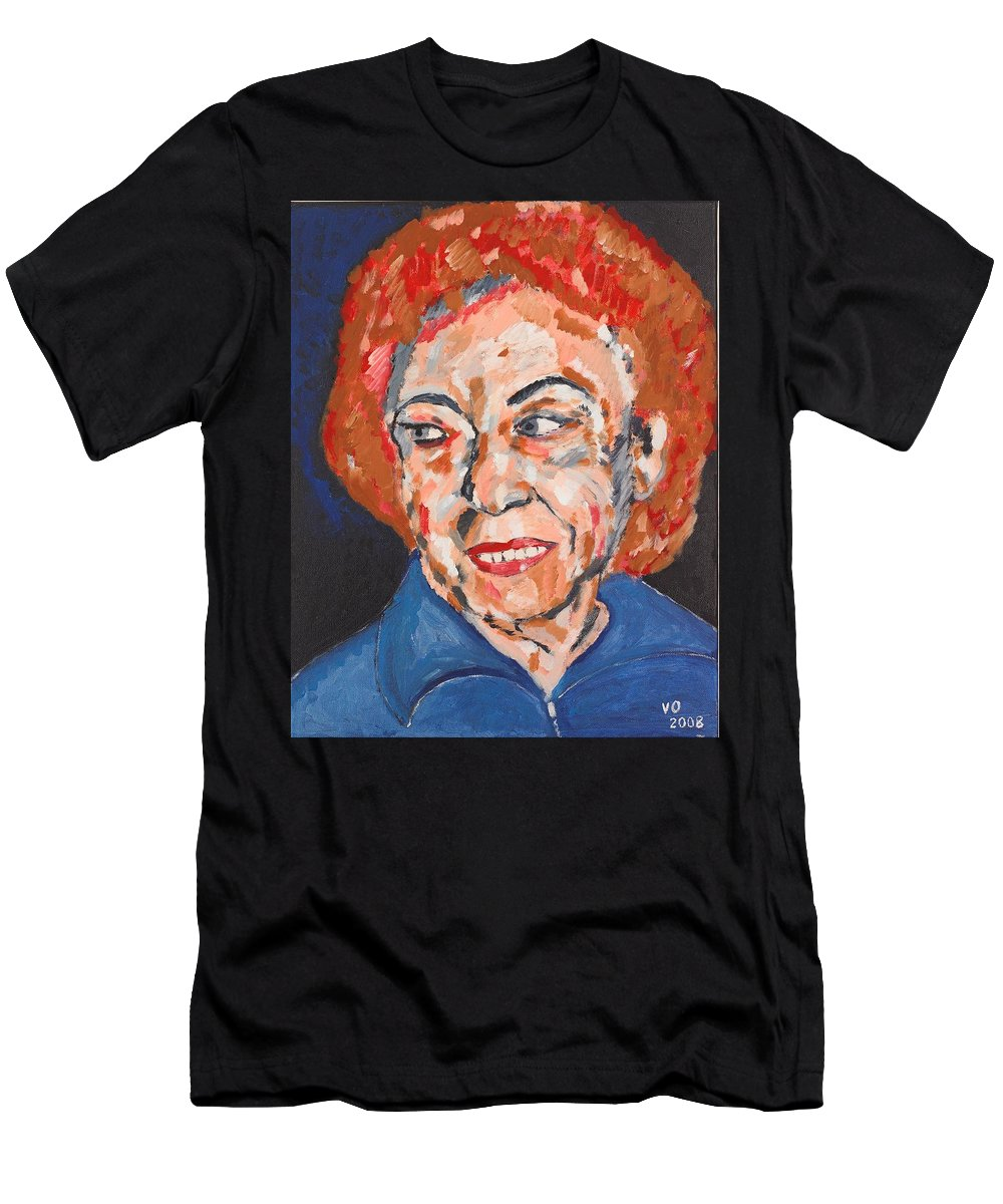 Portrait Men's T-Shirt (Athletic Fit) featuring the painting Tamara by Valerie Ornstein