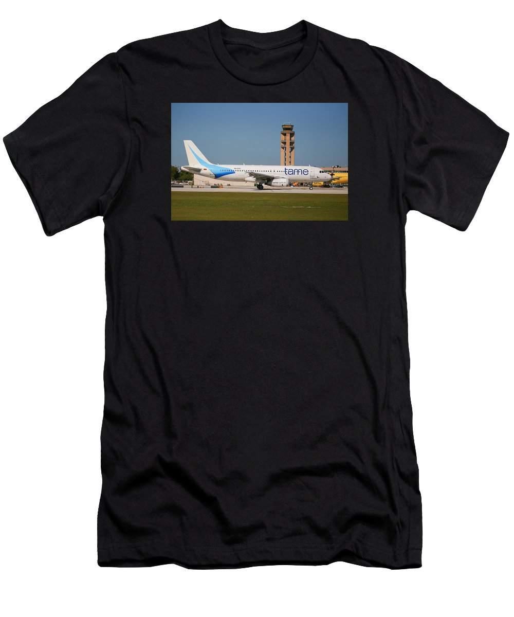 Tame Men's T-Shirt (Athletic Fit) featuring the photograph Tame Airline by Dart and Suze Humeston