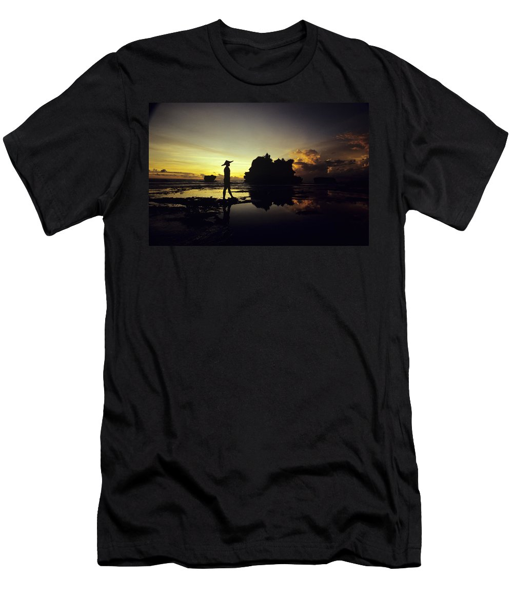 Asian Cultural Art Men's T-Shirt (Athletic Fit) featuring the photograph Tanah Lot Temple by William Waterfall - Printscapes