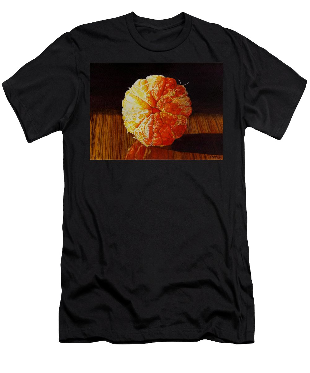 Still Life Men's T-Shirt (Athletic Fit) featuring the painting Tangerine by Catherine G McElroy