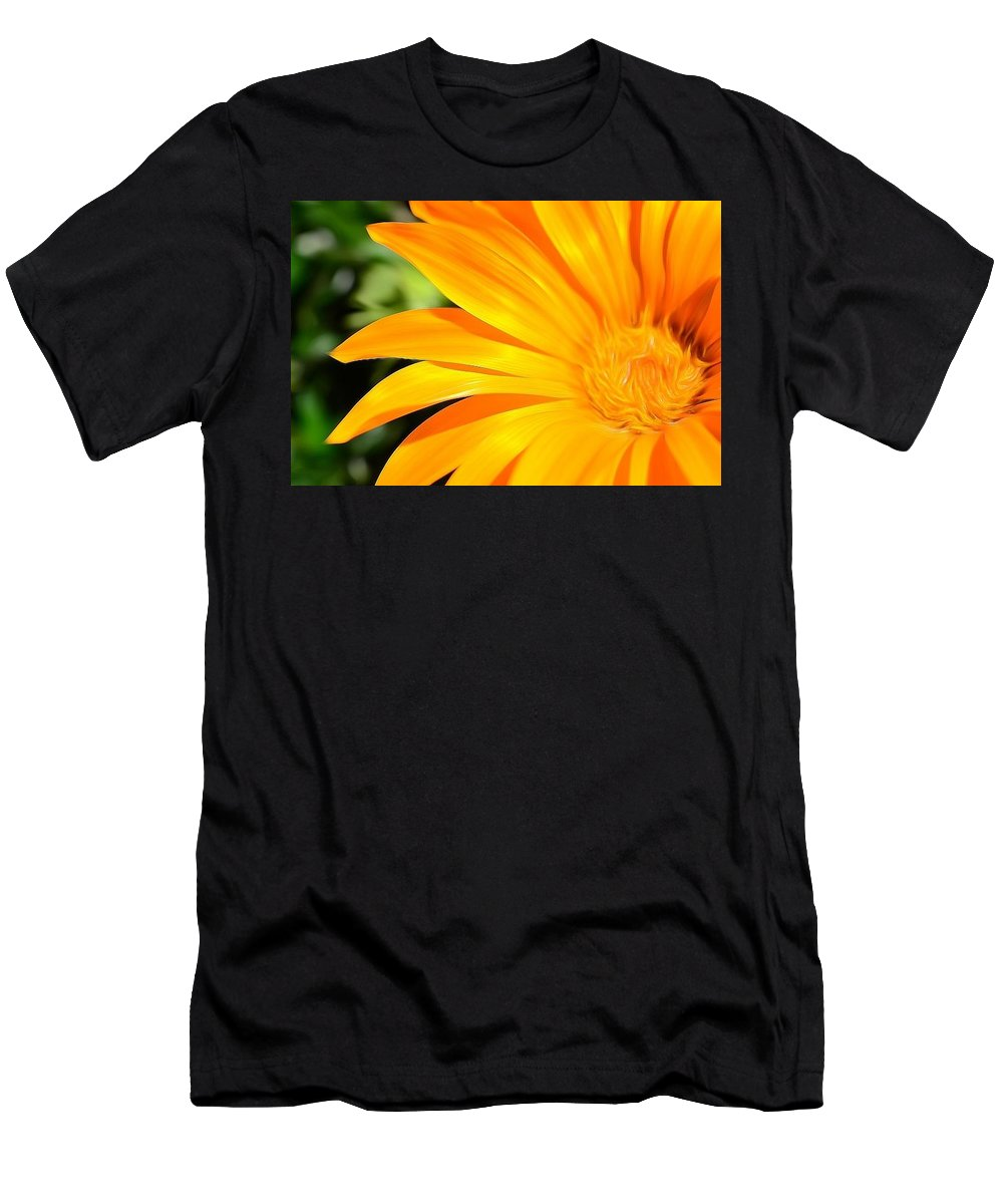 Photo Men's T-Shirt (Athletic Fit) featuring the photograph Tangerine Side Bloom by Susan Jacob