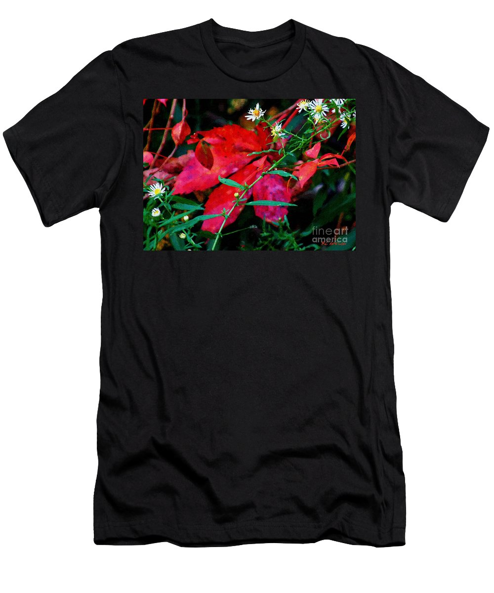 Asters Men's T-Shirt (Athletic Fit) featuring the painting Tangled Flame by RC DeWinter