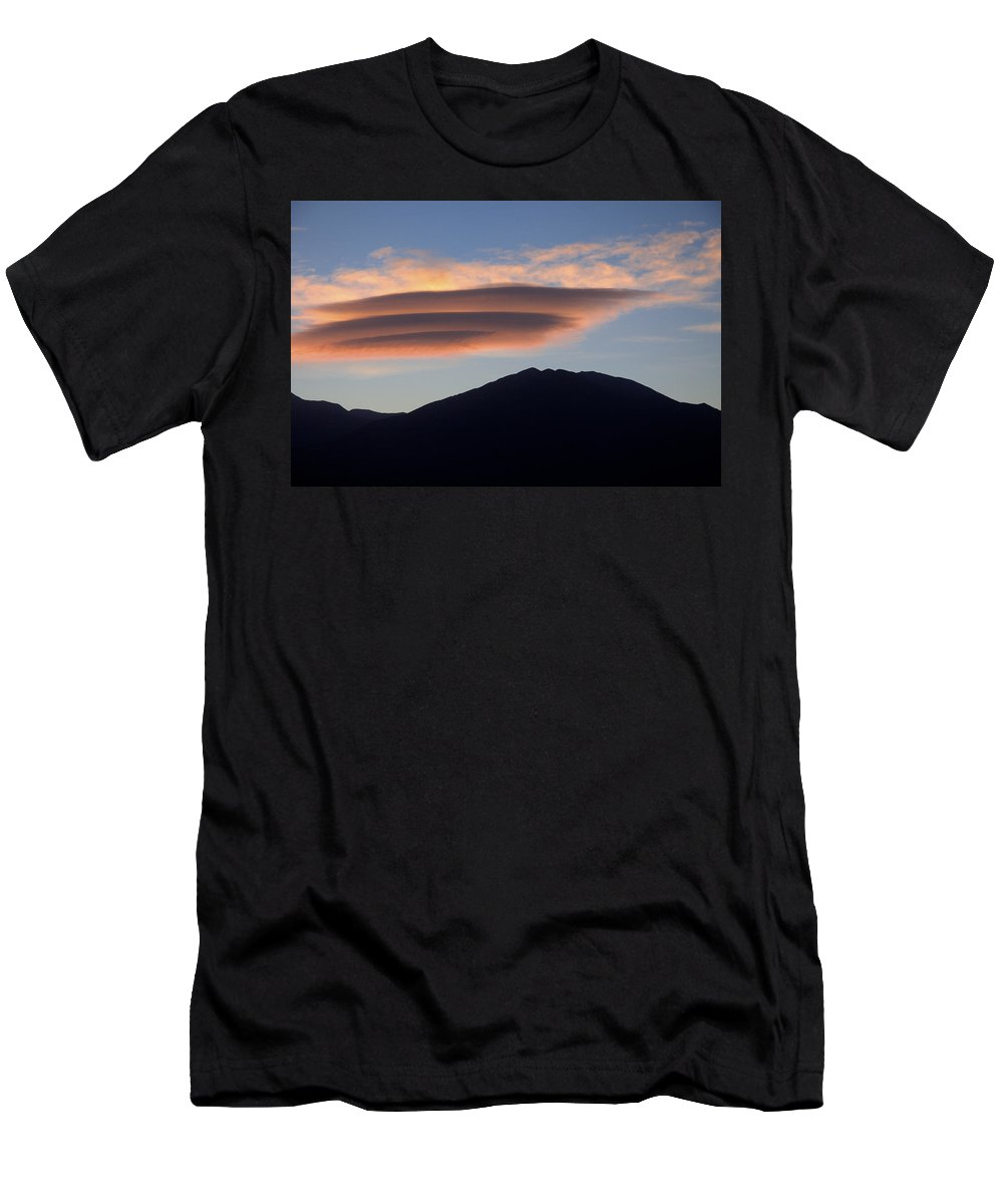 Taos Men's T-Shirt (Athletic Fit) featuring the photograph Taos Sunset by Jerry McElroy