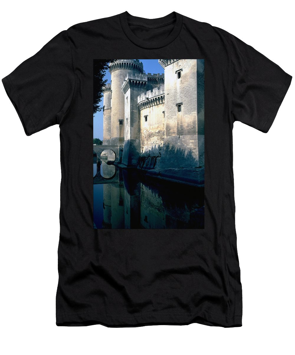 Tarragon France Castle Men's T-Shirt (Athletic Fit) featuring the photograph Tarragon France by Flavia Westerwelle
