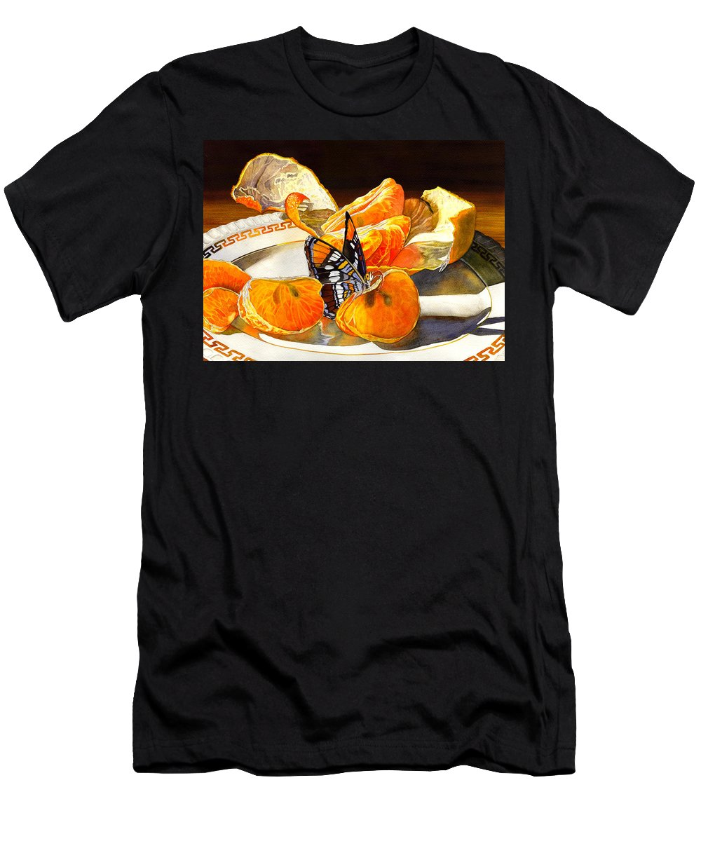 Butterfly Men's T-Shirt (Athletic Fit) featuring the painting Tasty by Catherine G McElroy