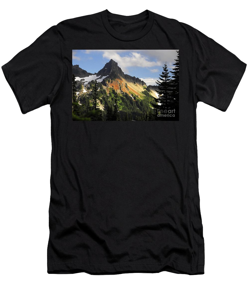 Mountains Men's T-Shirt (Athletic Fit) featuring the photograph Tatosh Range by David Lee Thompson