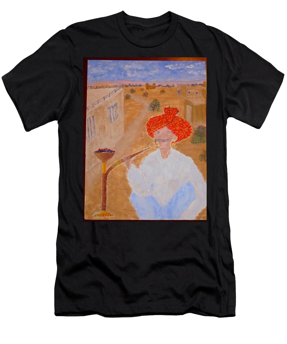 People Men's T-Shirt (Athletic Fit) featuring the painting Tau by R B