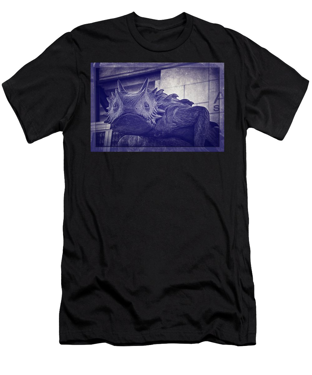 Joan Carroll Men's T-Shirt (Athletic Fit) featuring the photograph Tcu Horned Frog Purple by Joan Carroll