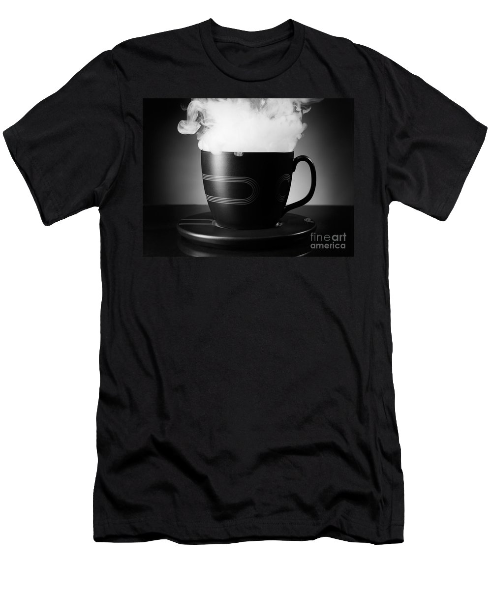 Tea Cup Men's T-Shirt (Athletic Fit) featuring the photograph Tea Cup by Oleksiy Maksymenko
