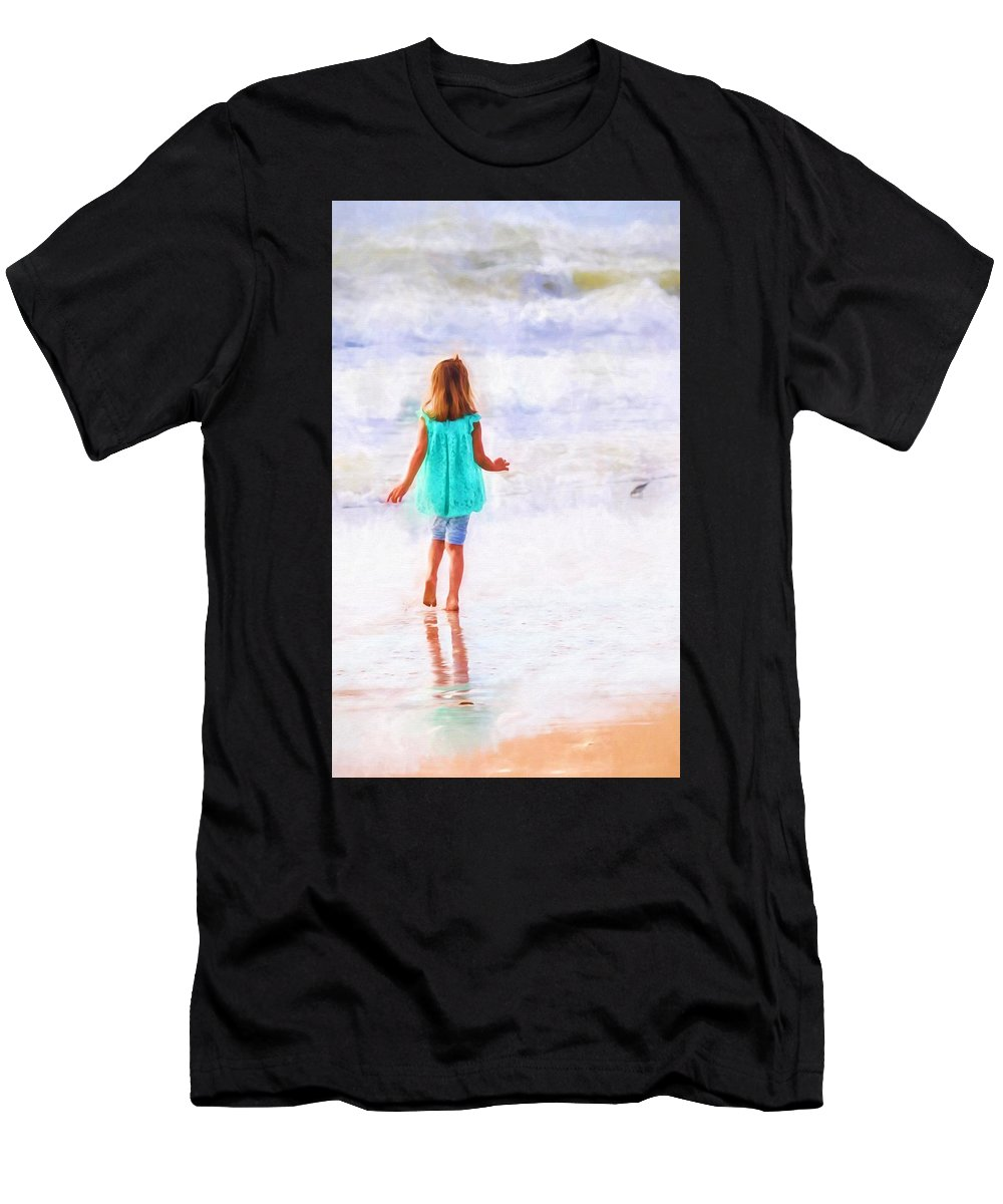 Alicegipsonphotographs Men's T-Shirt (Athletic Fit) featuring the photograph First Steps by Alice Gipson