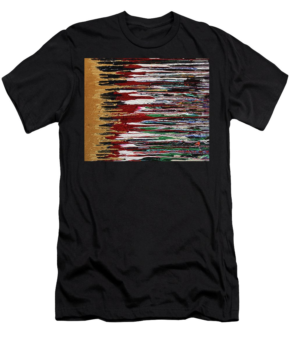 Fusionart Men's T-Shirt (Athletic Fit) featuring the painting Tears Of The Sun by Ralph White