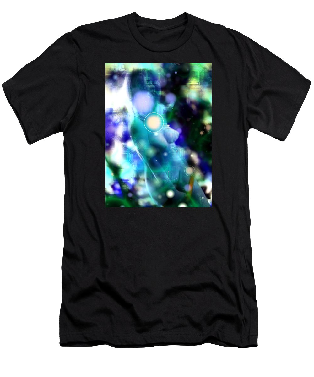 Digital Art Style Men's T-Shirt (Athletic Fit) featuring the photograph Techno Nude by Mario Carini