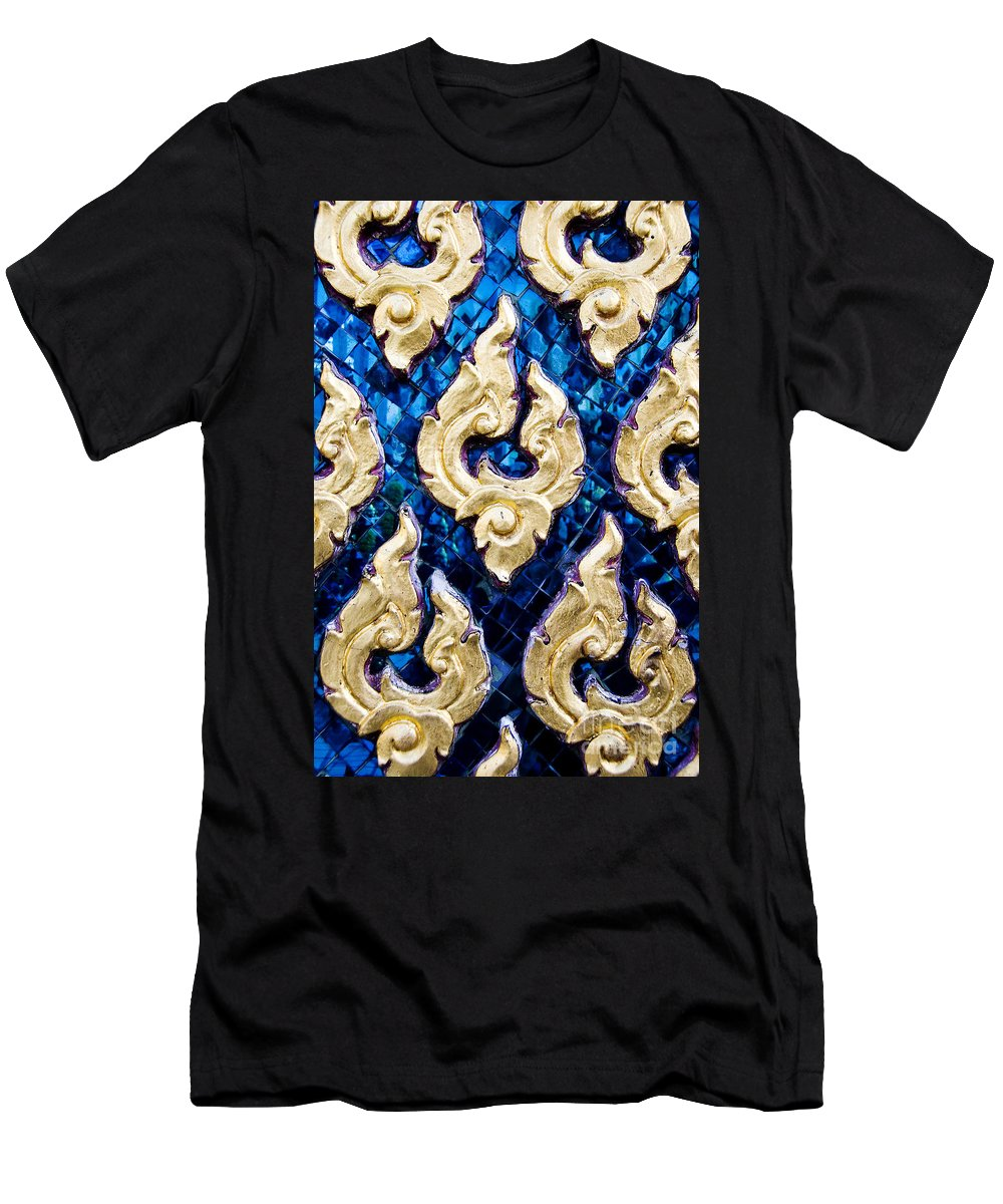 Art Men's T-Shirt (Athletic Fit) featuring the photograph Temple Detail by Ray Laskowitz - Printscapes