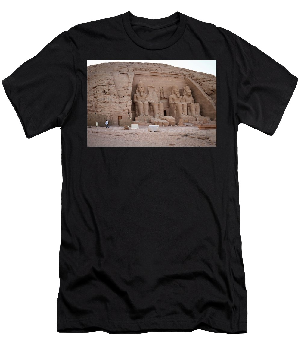Ramesses Men's T-Shirt (Athletic Fit) featuring the photograph Temple Of Rameses II by Silvia Bruno