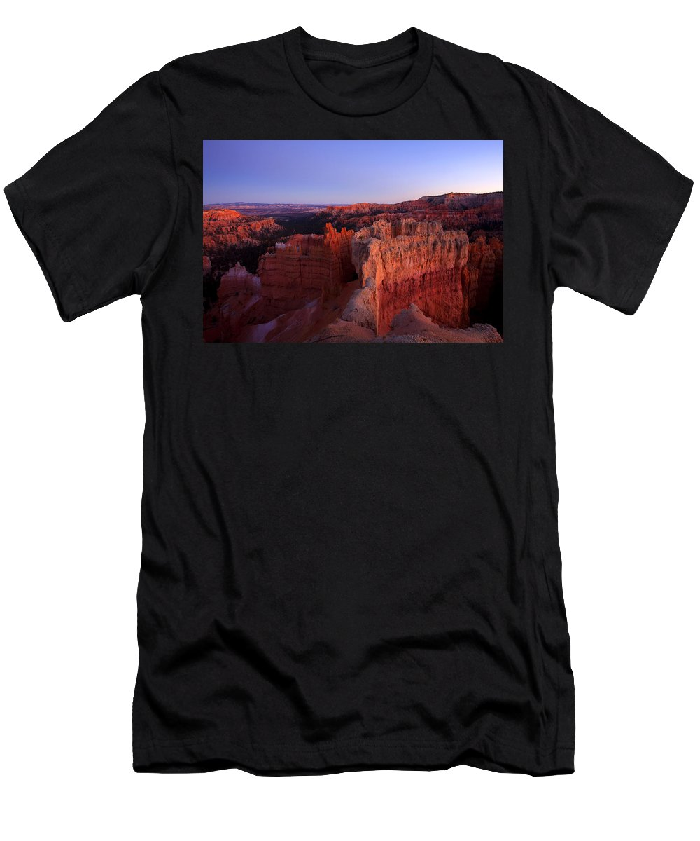 Hoodoo T-Shirt featuring the photograph Temple of the setting sun by Mike Dawson