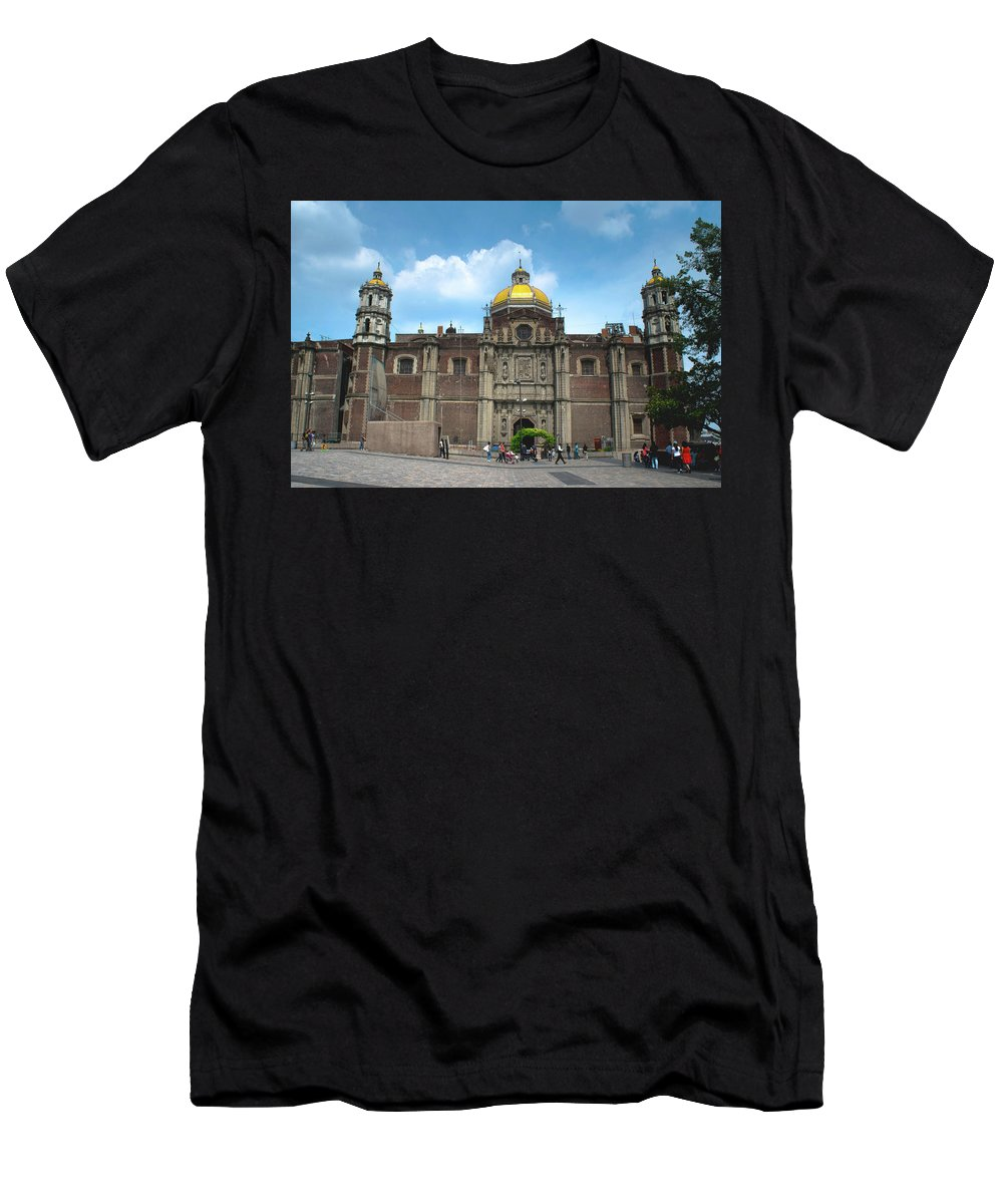 Basilica De Guadalupe Men's T-Shirt (Athletic Fit) featuring the photograph Templo Expiatorio A Cristo Rey - Mexico City by Totto Ponce