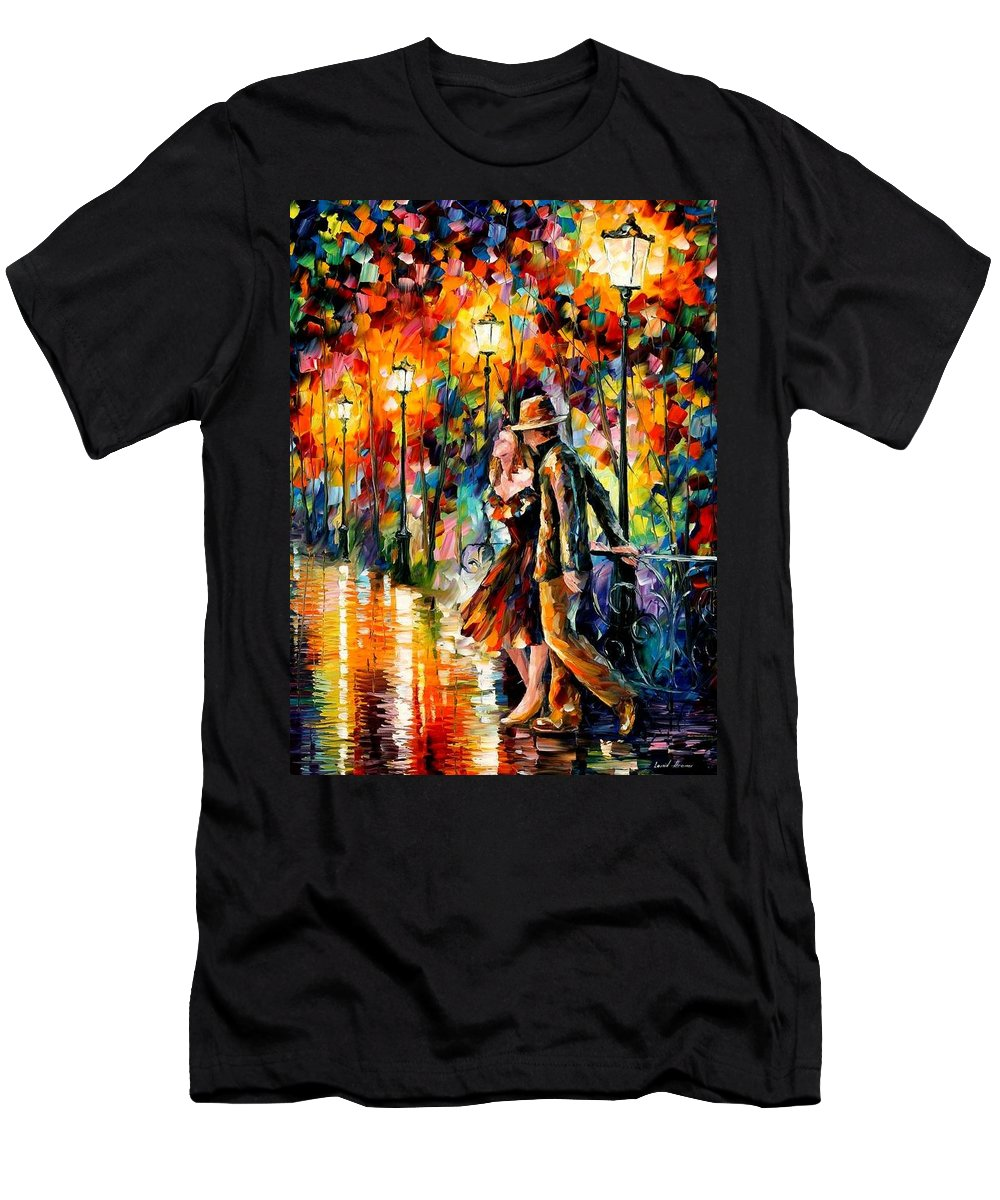 Scenery Men's T-Shirt (Athletic Fit) featuring the painting Tempter by Leonid Afremov