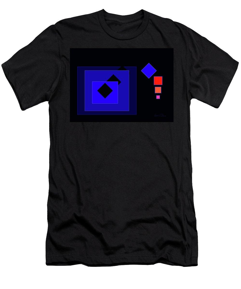 Boxes Men's T-Shirt (Athletic Fit) featuring the digital art Ten Boxes by Robert J Sadler