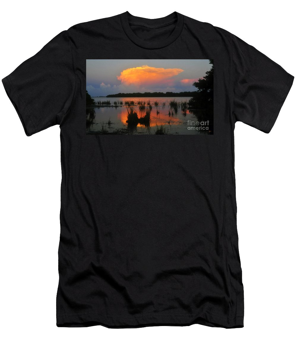 Ten Thousand Islands Florida Men's T-Shirt (Athletic Fit) featuring the painting Ten Thousand Islands Florida by David Lee Thompson