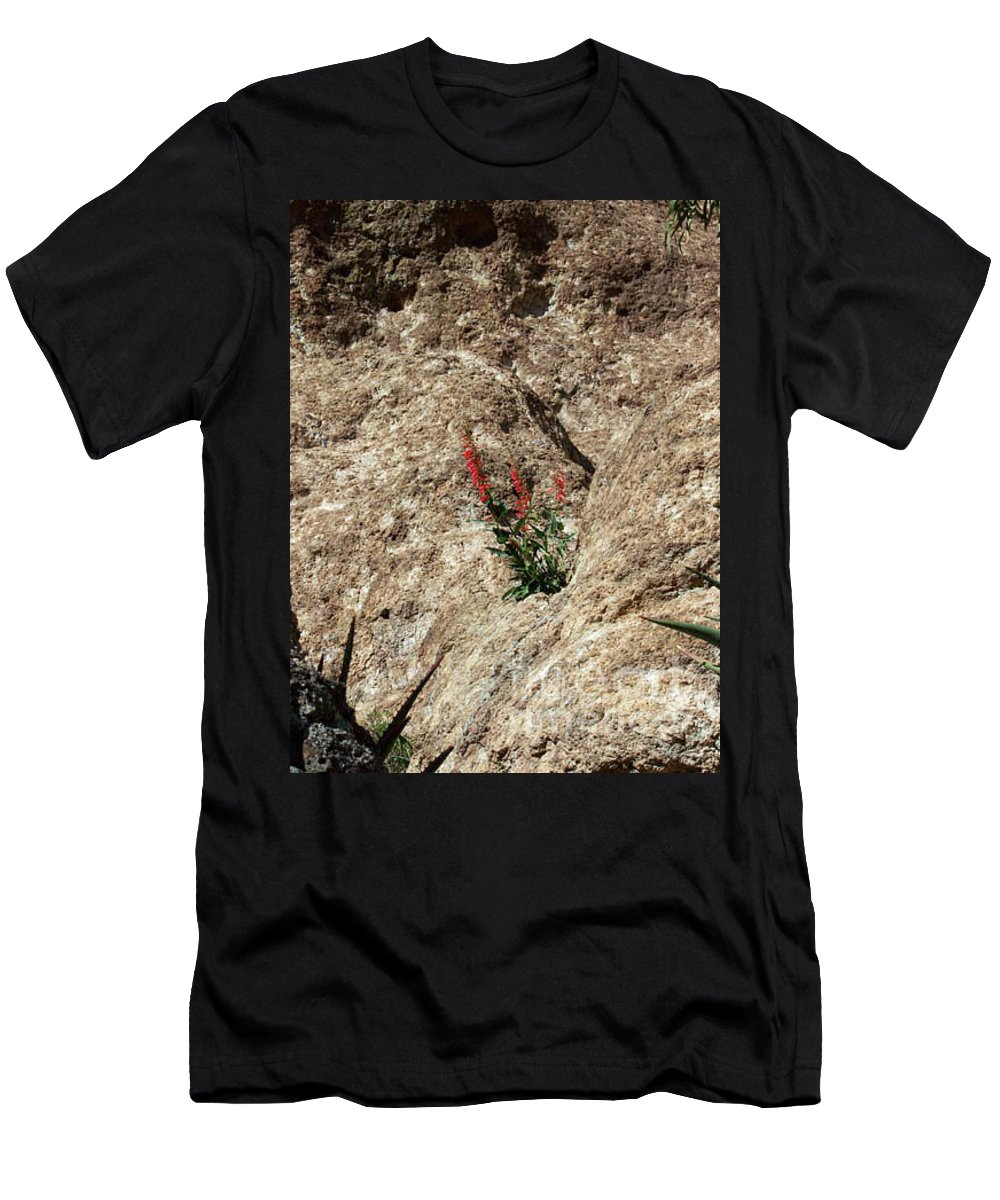 Wildflowers; Flowers Men's T-Shirt (Athletic Fit) featuring the photograph Tenacity by Kathy McClure