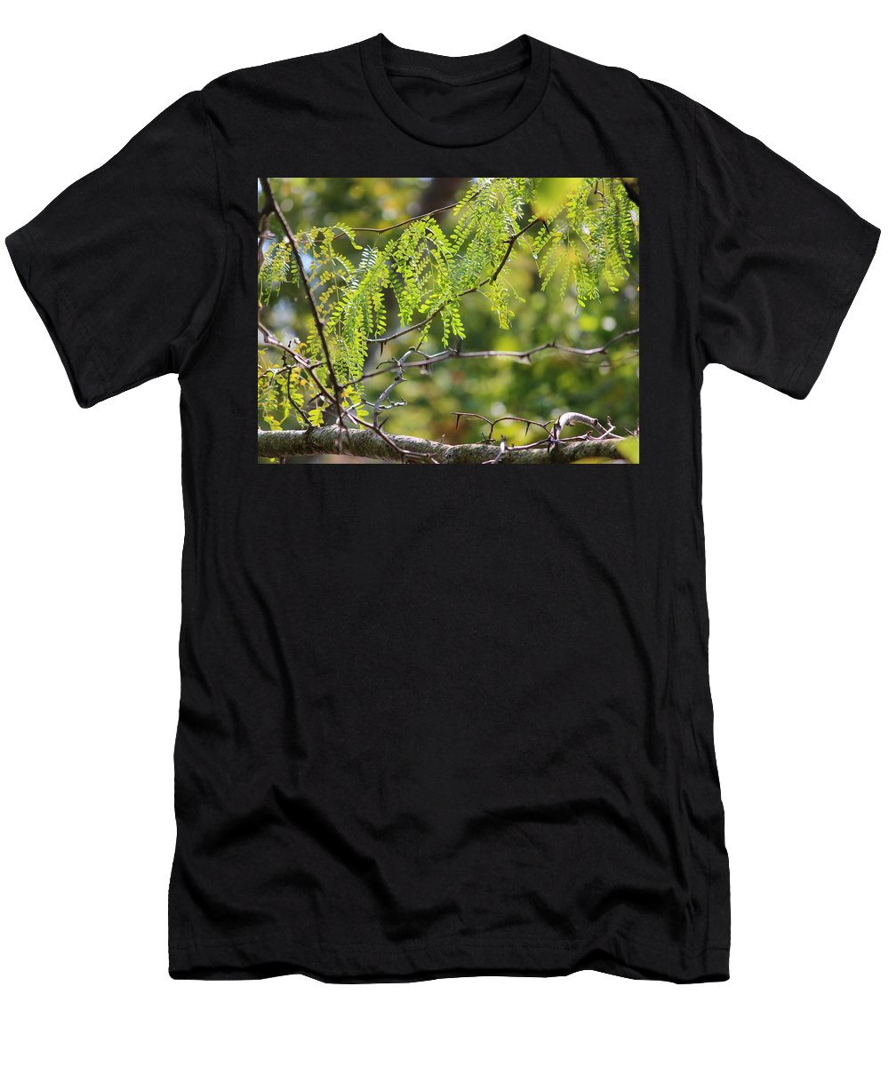 Nature Men's T-Shirt (Athletic Fit) featuring the photograph Tender Green by Aaliyah Muhammad