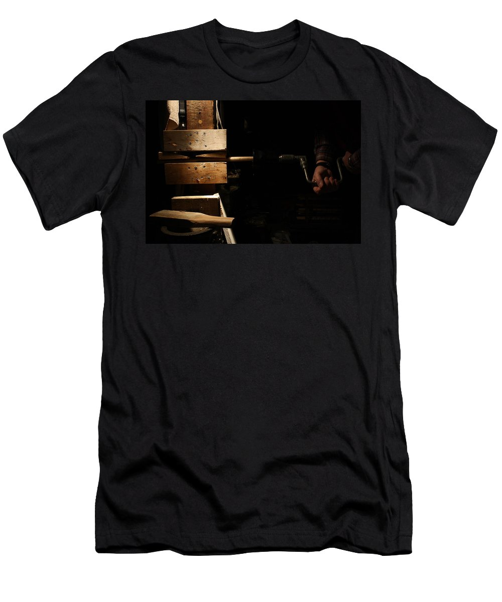Tenon Cutter Men's T-Shirt (Athletic Fit) featuring the photograph Tenon Cutter by Paul Borden