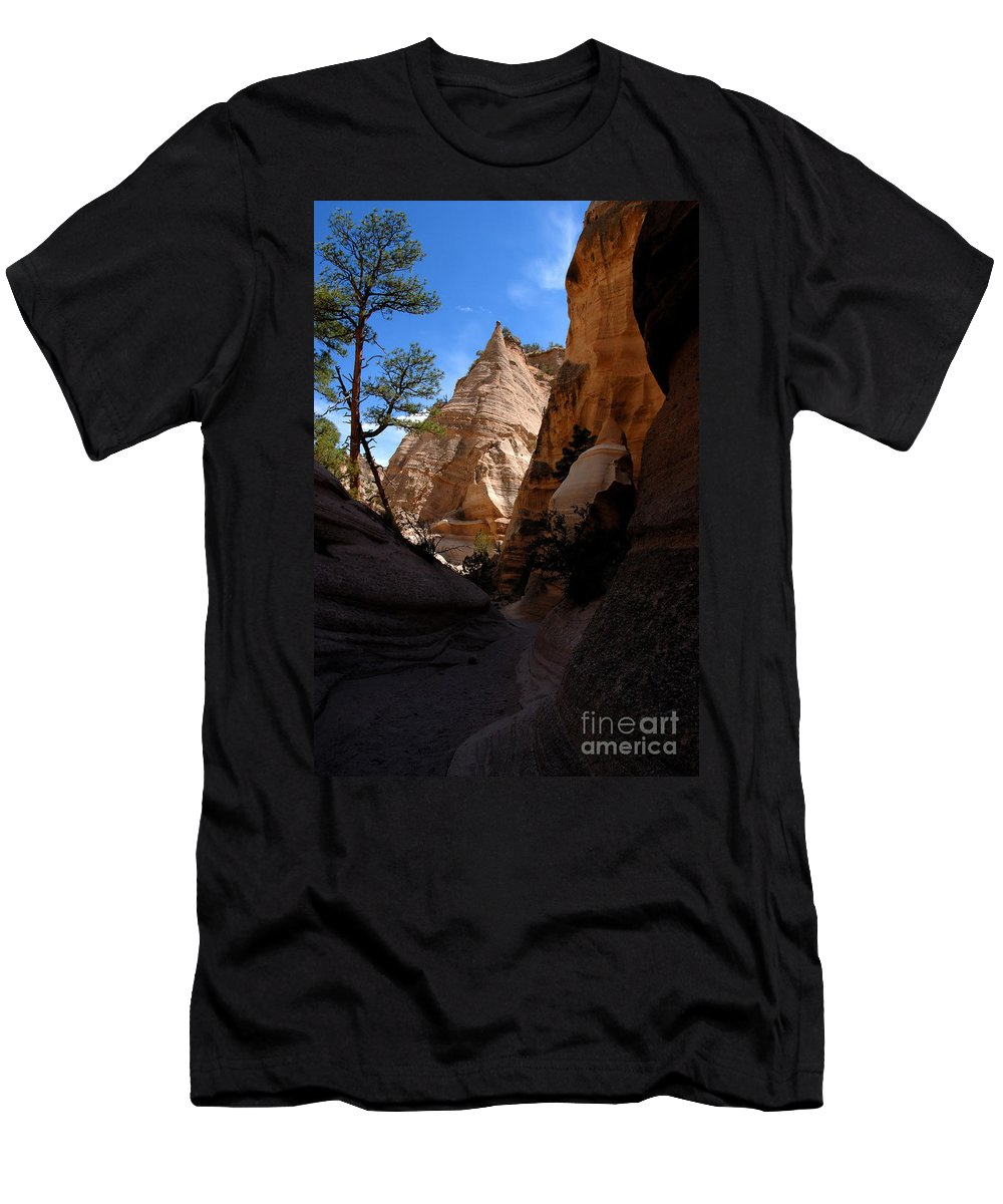 Tent Rocks Wilderness New Mexico Men's T-Shirt (Athletic Fit) featuring the photograph Tent Rocks Canyon by David Lee Thompson