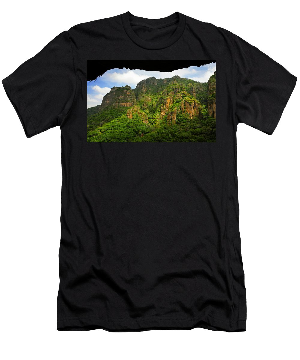 Skip Hunt Men's T-Shirt (Athletic Fit) featuring the photograph Tepozteco by Skip Hunt