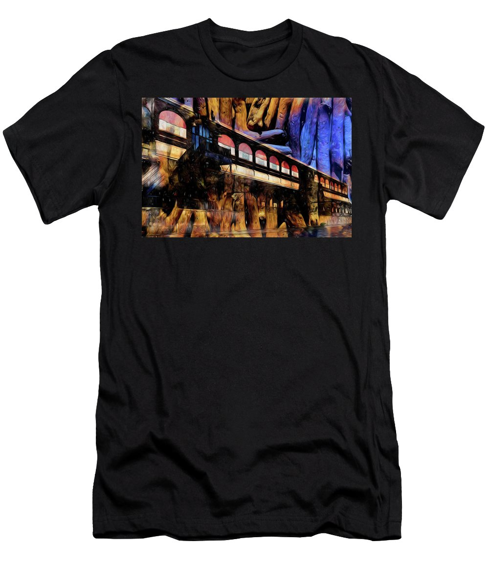 Central Terminal Men's T-Shirt (Athletic Fit) featuring the photograph Terminal by Richard Ricci