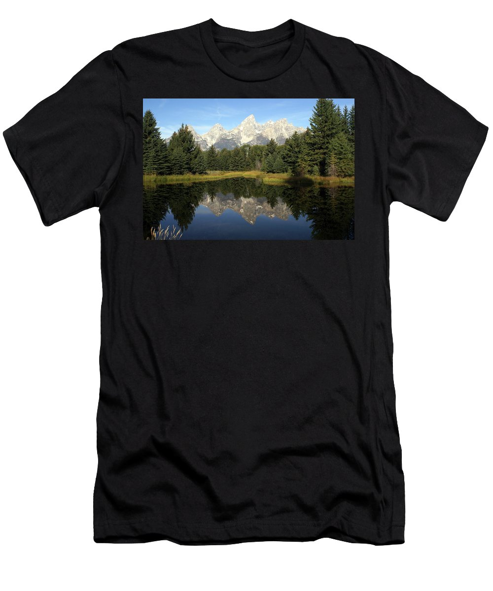 Grand Teton National Park Men's T-Shirt (Athletic Fit) featuring the photograph Teton 6 by Marty Koch
