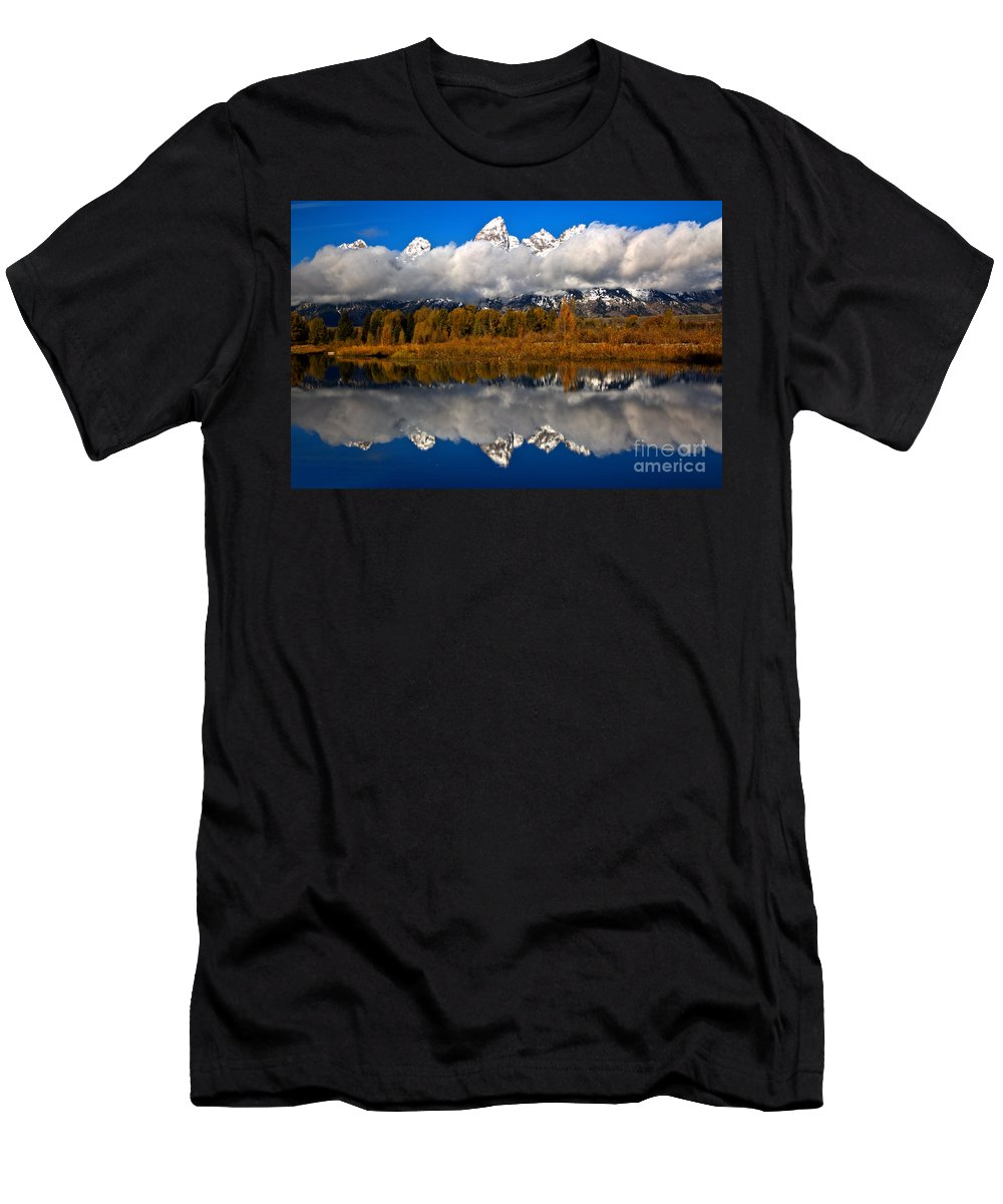 Gtnp Men's T-Shirt (Athletic Fit) featuring the photograph Teton Cloud Swarm by Adam Jewell