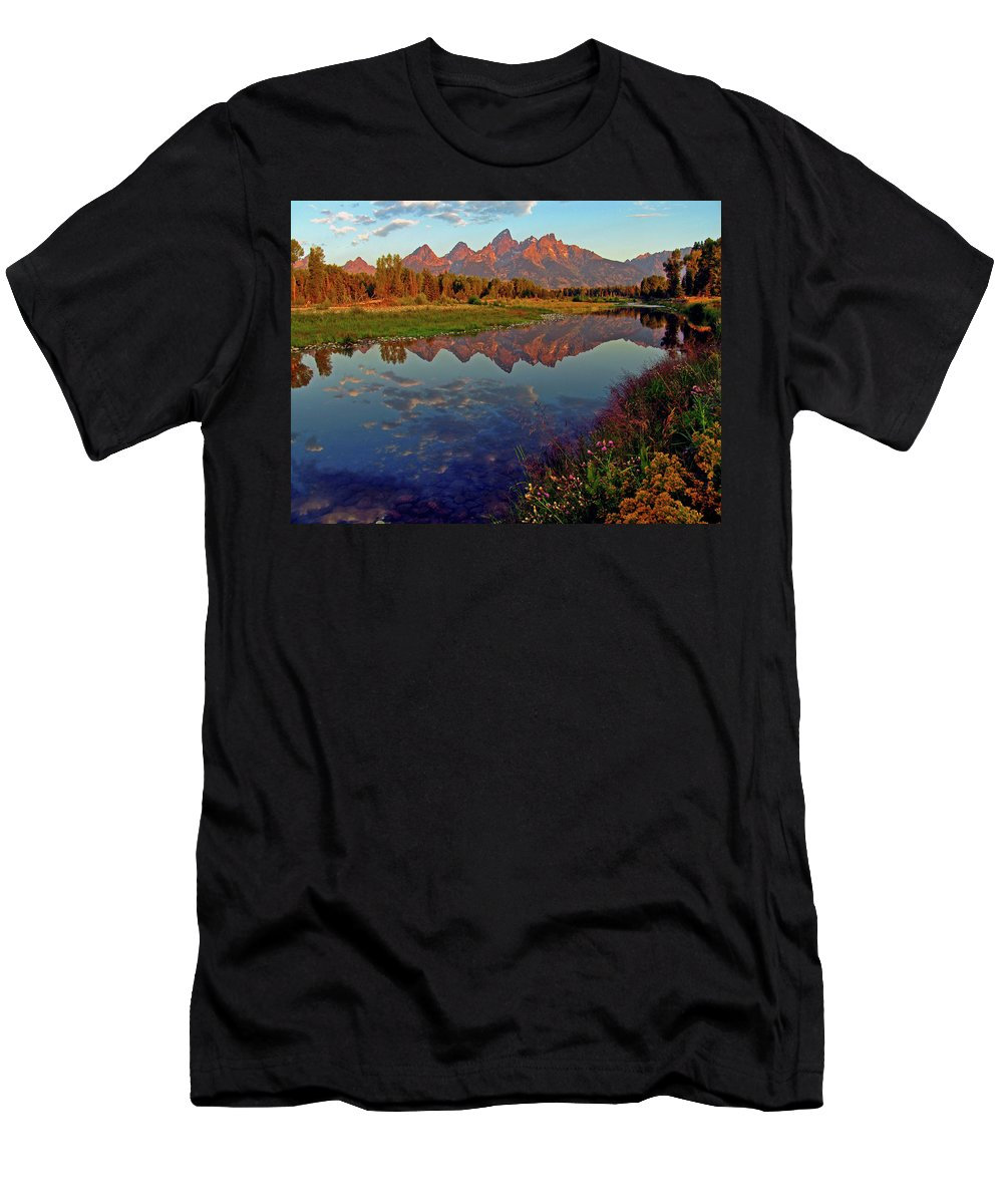 Mountains T-Shirt featuring the photograph Teton Wildflowers by Scott Mahon