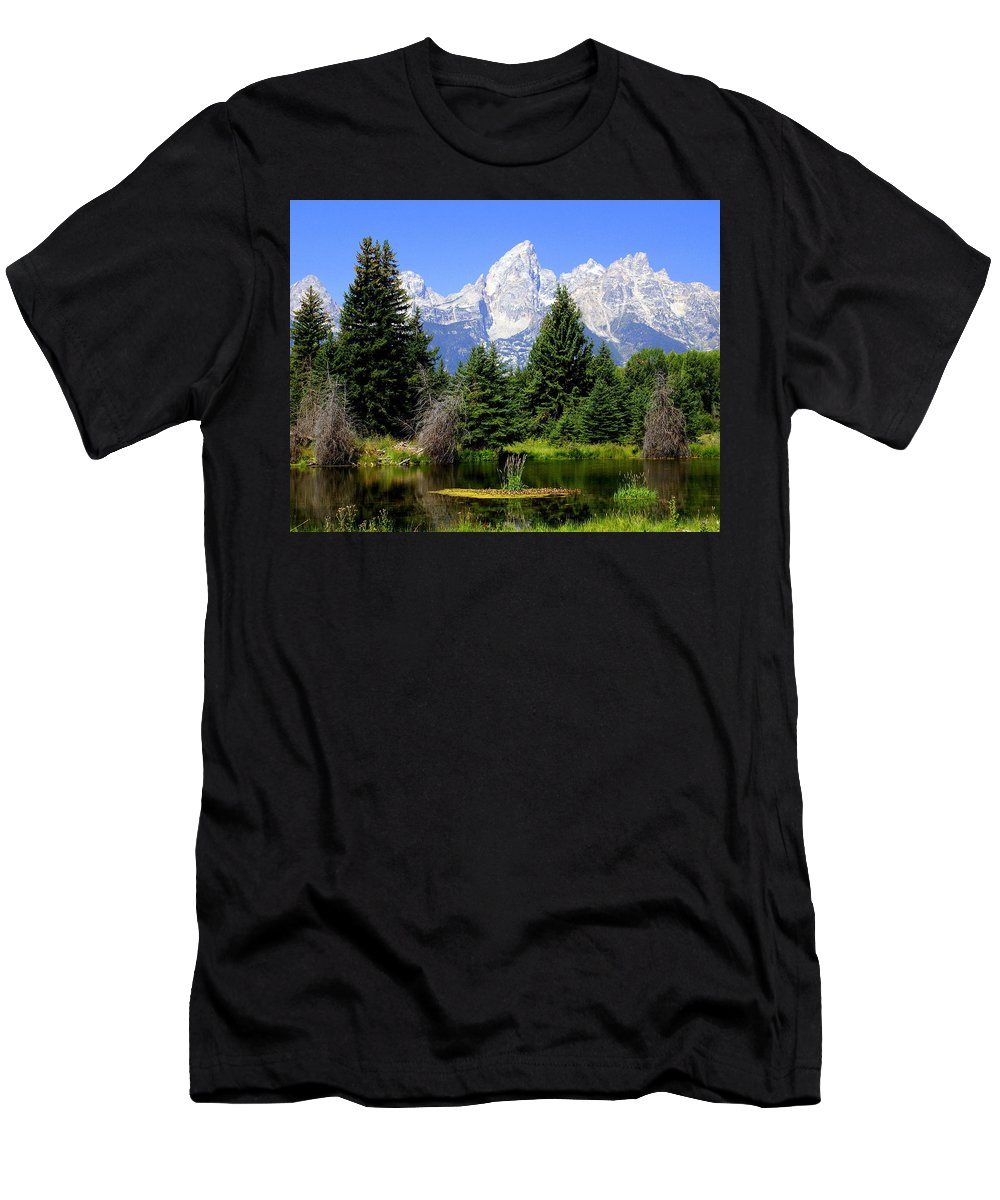 Grand Teton National Park Men's T-Shirt (Athletic Fit) featuring the photograph Tetons by Marty Koch
