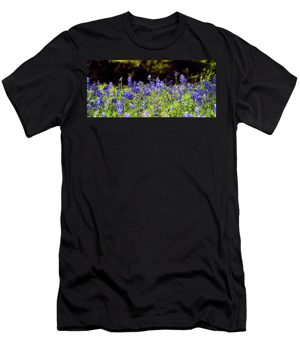 Texas Men's T-Shirt (Athletic Fit) featuring the photograph Texas Bluebonnets IIi by Greg Reed