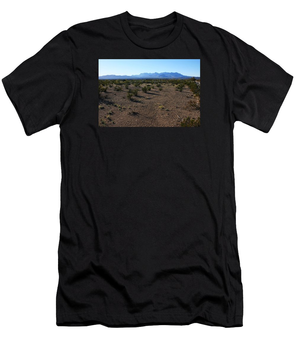 Texas Men's T-Shirt (Athletic Fit) featuring the photograph Texas Desert by Andrew Parker