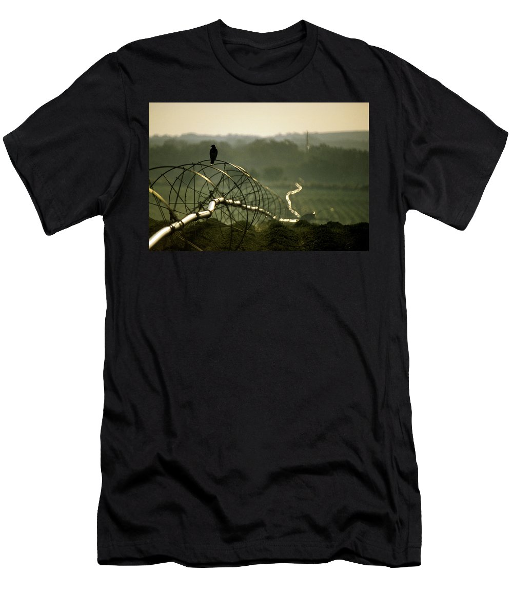Hawk Men's T-Shirt (Athletic Fit) featuring the photograph Texas Hawk by Jerry McElroy