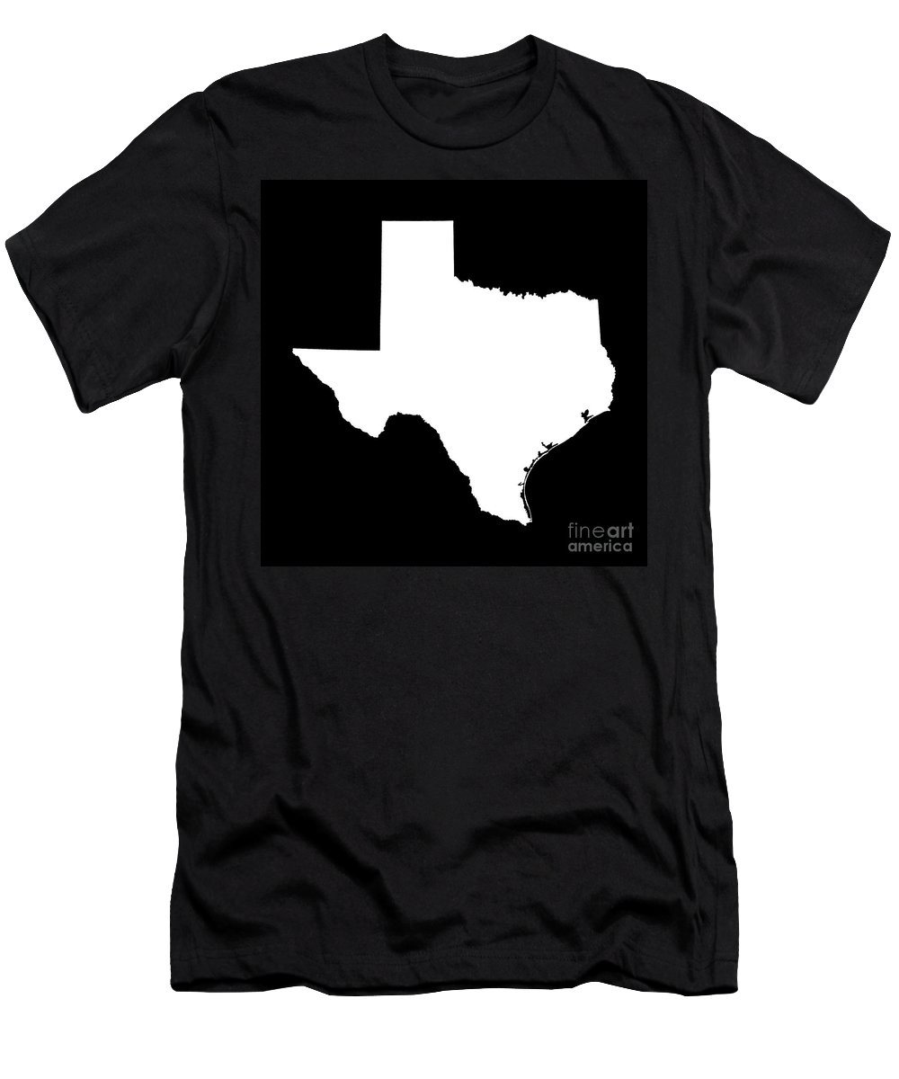 Texas State Outline Men's T-Shirt (Athletic Fit)