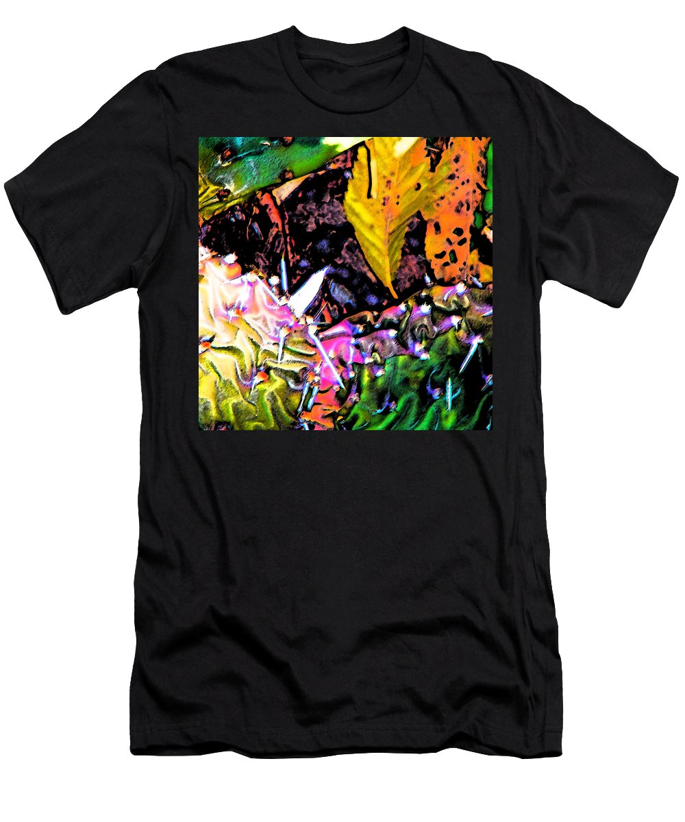 Abstract Men's T-Shirt (Athletic Fit) featuring the digital art Textures by Lenore Senior