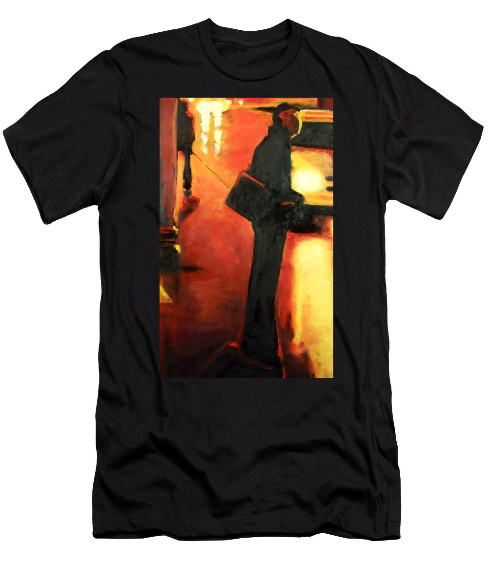 Rob Men's T-Shirt (Athletic Fit) featuring the painting That First Step by Robert Reeves