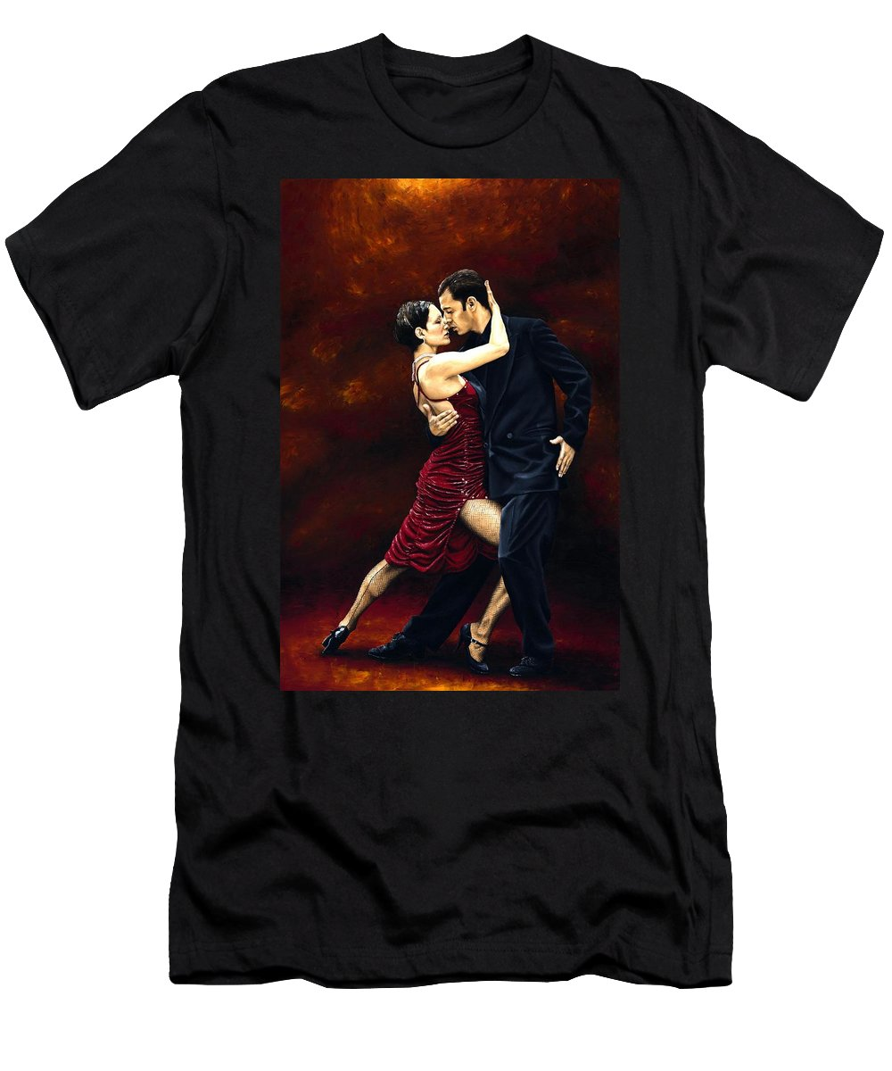 Tango Men's T-Shirt (Athletic Fit) featuring the painting That Tango Moment by Richard Young
