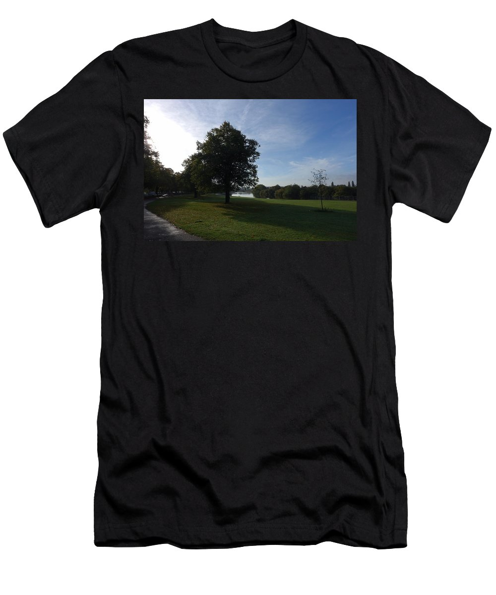 Autumn Men's T-Shirt (Athletic Fit) featuring the photograph That Tree, 6th October, 2015 by Theresa Bristow