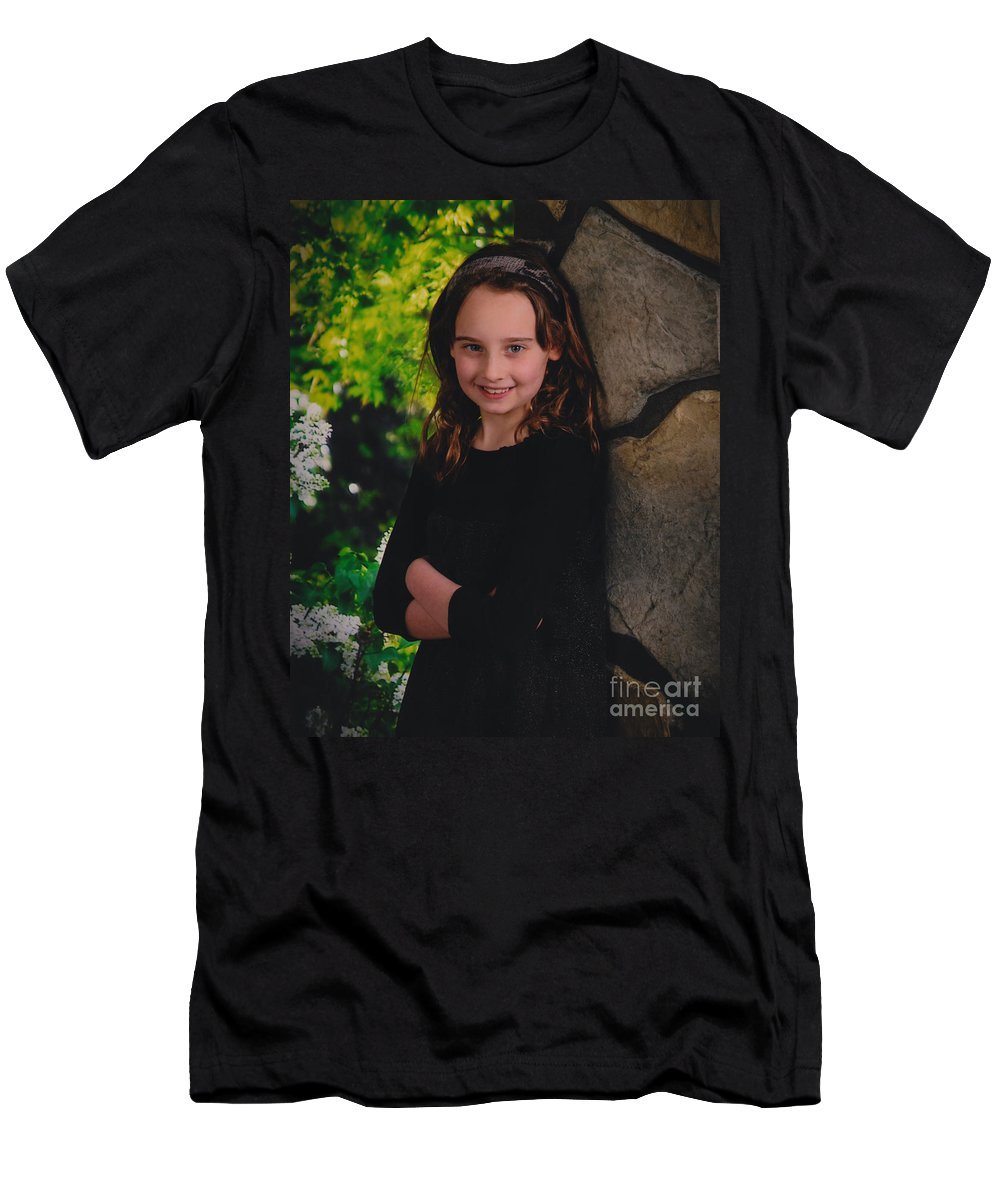 Men's T-Shirt (Athletic Fit) featuring the photograph The A by Howard Buksbaum