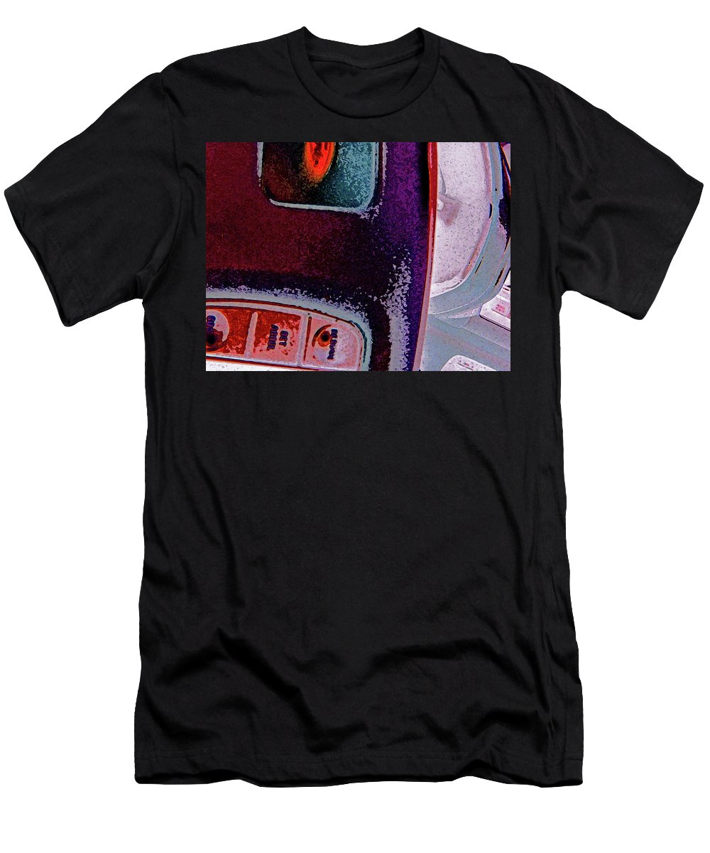Abstract Men's T-Shirt (Athletic Fit) featuring the digital art The Accidental Abstract 2 by Lenore Senior