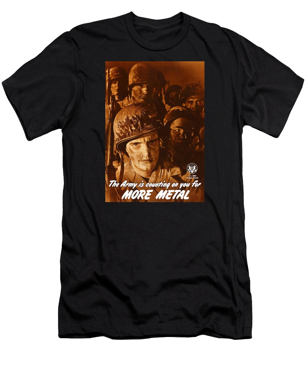 Army Men's T-Shirt (Athletic Fit) featuring the painting The Army Is Counting On You by War Is Hell Store