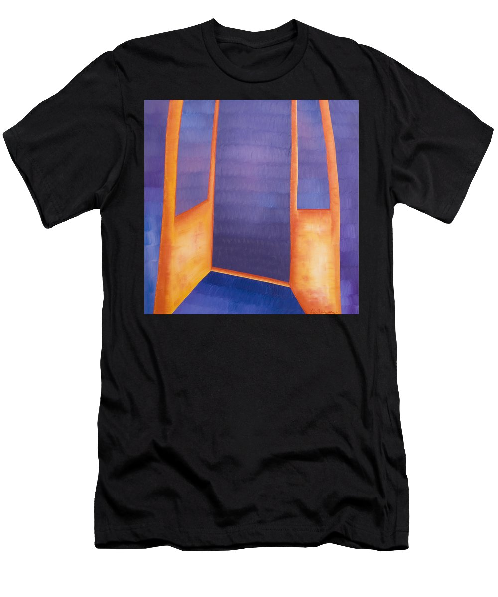 Death Men's T-Shirt (Athletic Fit) featuring the painting The Arrival by Judy Henninger