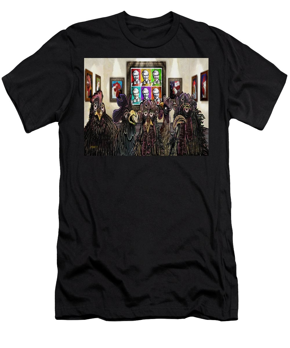 Gallery Men's T-Shirt (Athletic Fit) featuring the painting The Art Critics by Robert Pratt