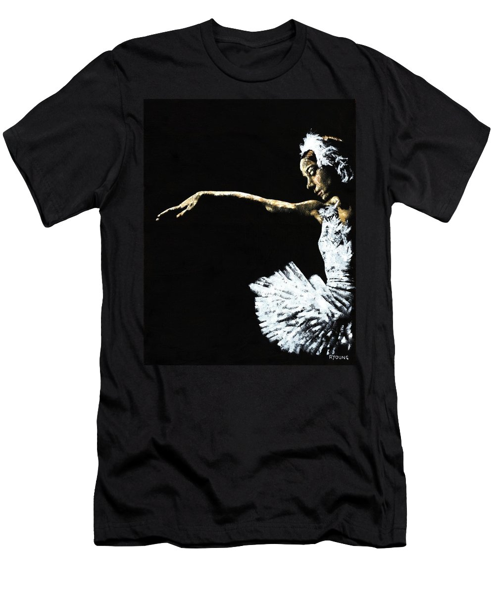 Ballet Men's T-Shirt (Athletic Fit) featuring the painting The Art Of Grace by Richard Young