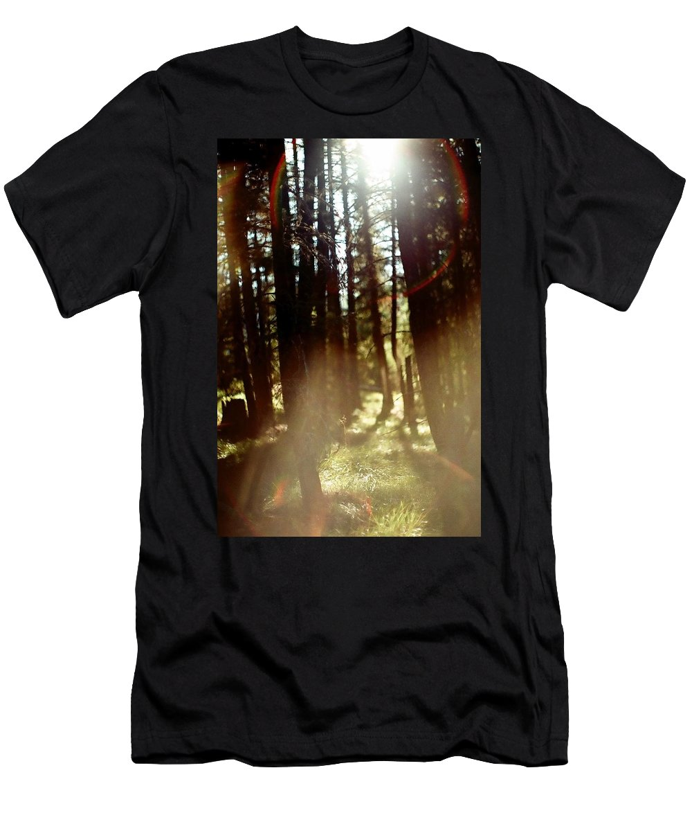 Film Men's T-Shirt (Athletic Fit) featuring the photograph The Art Of The Forest by Ikon Republik