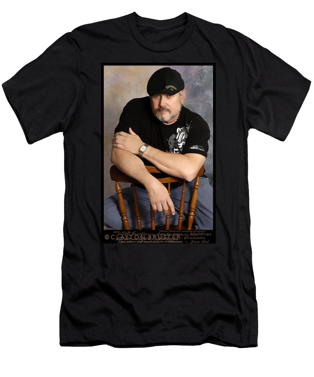 Clay Men's T-Shirt (Athletic Fit) featuring the photograph The Artist by Clayton Bruster