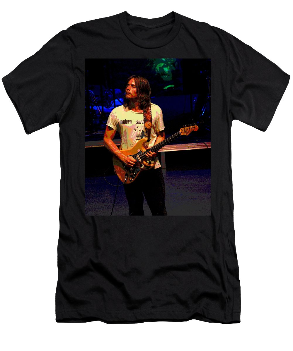 Lukas Nelson Men's T-Shirt (Athletic Fit) featuring the photograph The Awakening Of Lukas Nelson 2 by Ben Upham